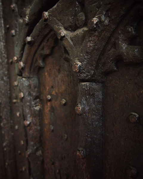 Medieval Door, St. Mary's Church, Thirsk, UK #travel #history #architecture #thirsk #uk #medieval #12thcentury