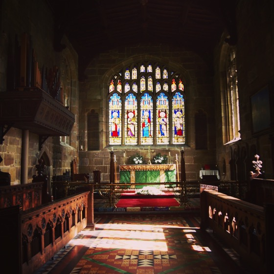hSt. Marys Church, Thirsk, UK #architecture #travel #uk #thirsk #interior #church #stainedglass