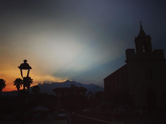 Stazzo Sunset, Stazzo, Sicily, Italy #stazzo #sicily #italy #sunset #travel #mountetna #etna #silhouette #volcano