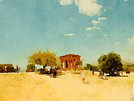 Valli dei Templi Watercolor, Agrigento, Sicily, Italy via Instagram [Photo]