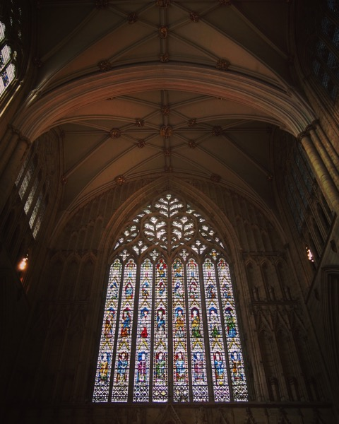 York Minster, Stained Glass Window, York, UK #travel #architecture #interior #stainedglass #church #history #york #uk