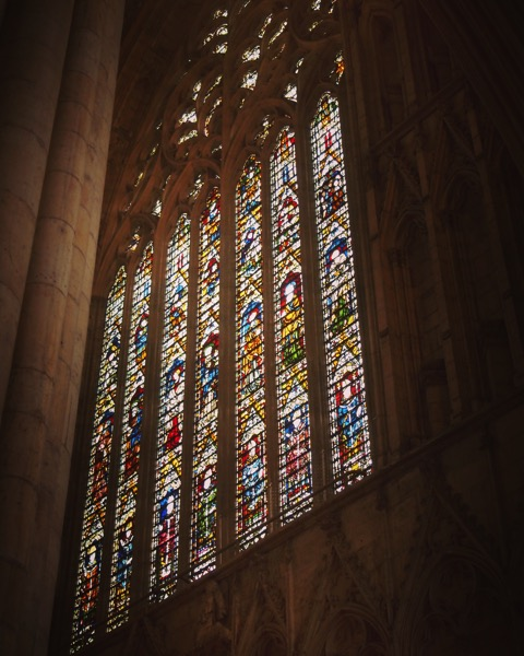 Stained glass 1, York Minster, York, UK #travel #architecture #stainedglass #church #york #uk #yorkminster
