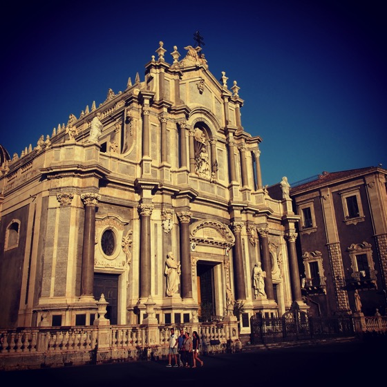 Duomo at Sunset, Catania, Sicily, Italy #catania #sicily #italy #architecture #sunset #travel