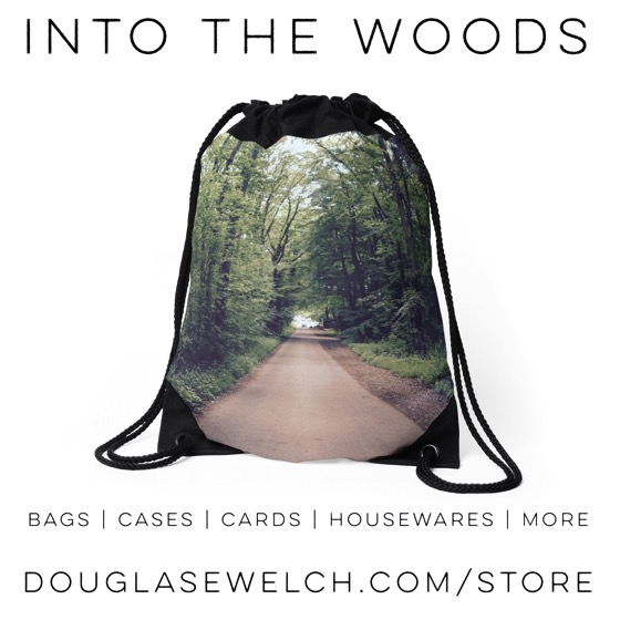 Drawstring Bag, Into the Woods, St. Fagan's, Wales, UK #bags #products #travel #uk #wales #outdoors #nature #forest