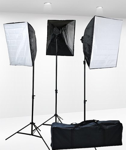 Fancierstudio Professional Digital Video Continuous Softbox Lighting Kit with Lighting Stand, 3000 Watt  | Douglas E. Welch Gift Guide 2016 #15
