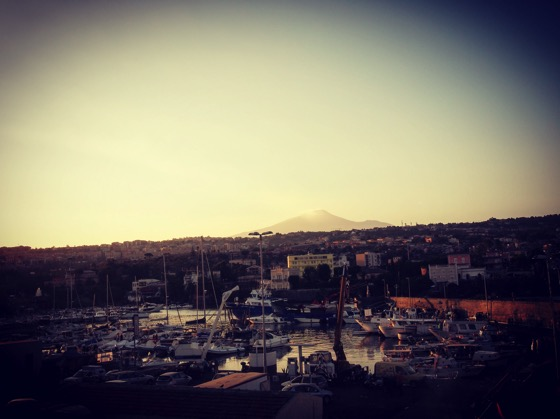 Etna seen from Lungomare, Catania, Sicily, Italy #travel #mountetna #scenic #sicily #italy #lungomare