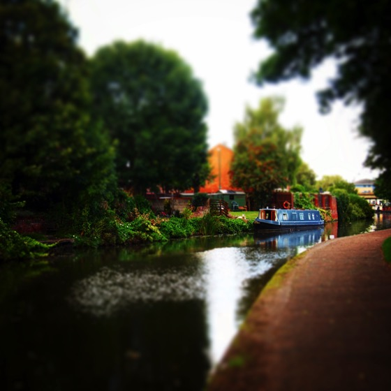 Along the Nottingham canal tilt shift #canal #Nottingham #travel #Uk #transportation #nature #scenic #boat #narrowboat #tiltshift