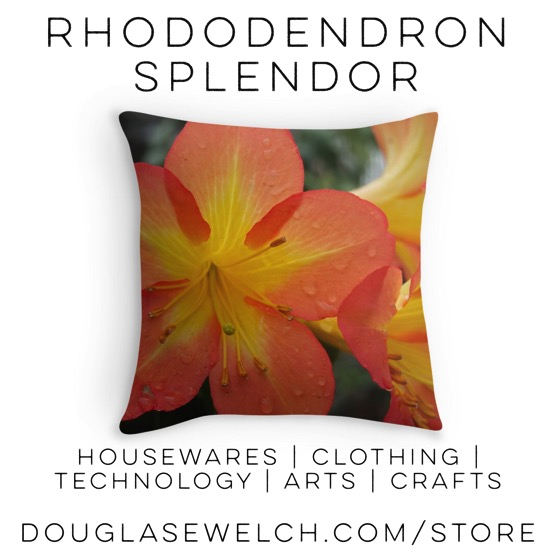 Beauty Every Day with these Rhododendron Splendor pillows and more #flowers #garden #rhododendron #clothing #housewares #technology #iphone #arts #crafts