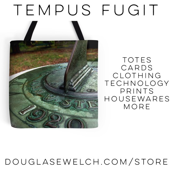 Tempus Fugit Tote Bags and much more - Shop for these exclusively at DouglasEWelch.com/store #tote #bags #cards #housewares #prints #technology #iphone #laptop #sundial #shopping #gifts