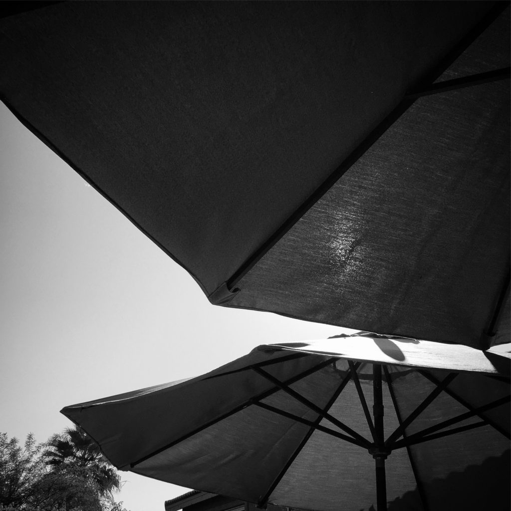 Umbrella Abstract, Palm Springs, CA #blackandwhitephotography #abstract #bw #outdoors