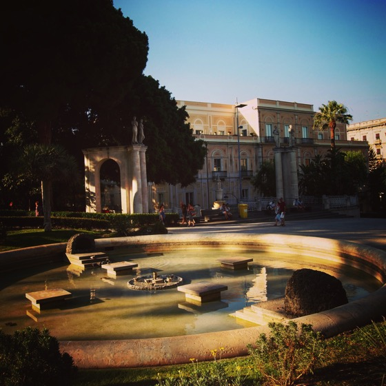 Villa Bellini at Sunset, Catania, Sicily, Italy #travel #catania #sicily #italy #garden #architecture