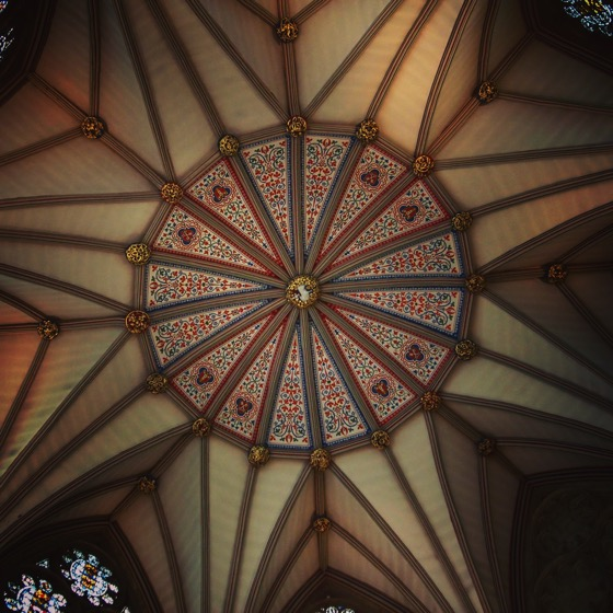 York Chapter House Ceiling, York, UK #architecture #travel #history #york #uk