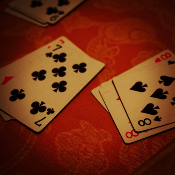 A Friendly Card Game #cards #game #playingcards #gambling #fun