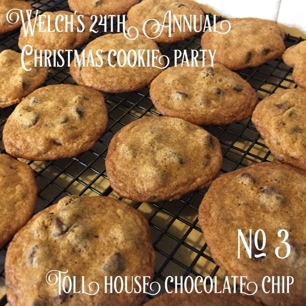 No. 3 Toll House Chocolate Chip Cookies | Welch's 24th Annual Christmas Cookie Party - Recipe: Back of any chip bag #cookies #food #christmas #christmasfood #chocolatechip #chocolatechipcookies
