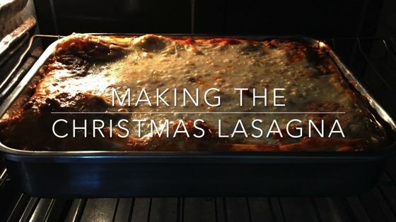 Christmas lasagna 2016