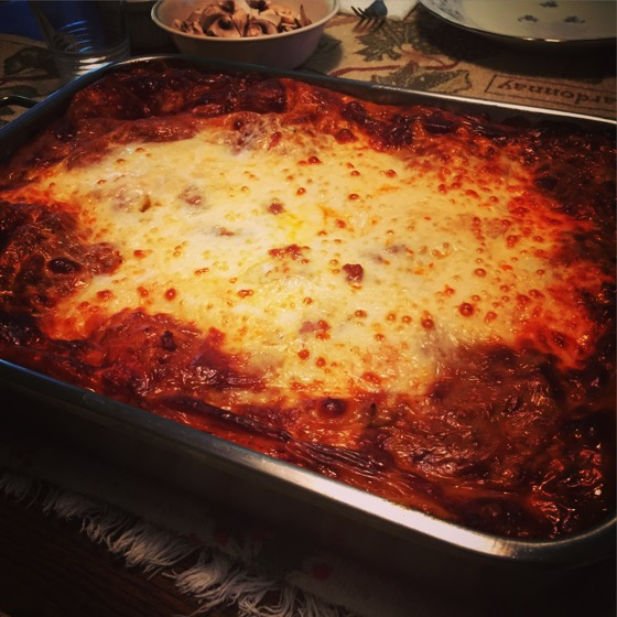 Annual Christmas Lasagna with Homemade Pasta