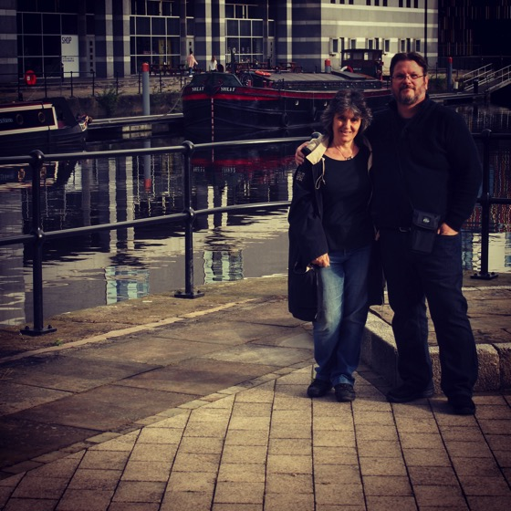 Douglas and @drrosannewelch at Leeds Dock, Leeds, UK #leeds #uk #dock #travel #people #ig_uk #ig_leeds #ig_travel #theglobewanderer #travelgram