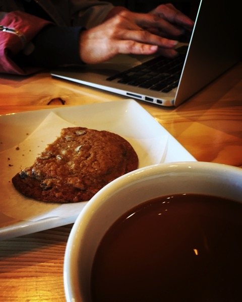 Coffee, tea and a little work at our new hangout in Van Nuys - Farm Table