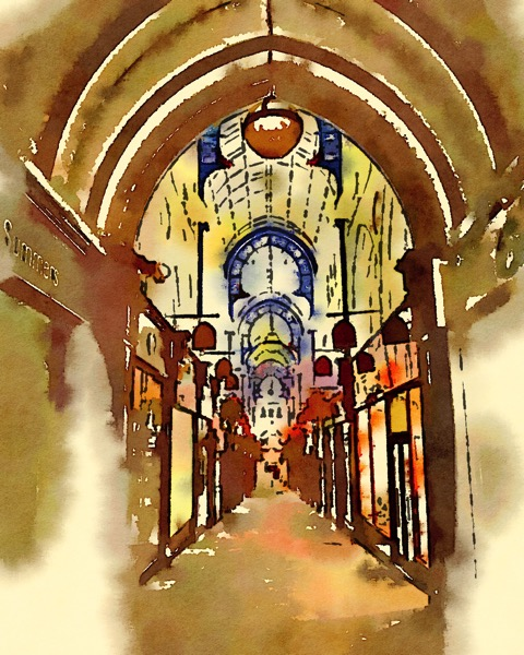 Arcade, Leeds, UK (Watercolor)