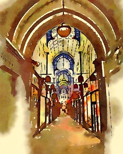Arcade, Leeds, UK (Watercolor)