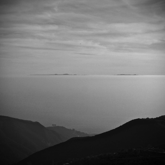 Santa Catalina Island Peeks Above The Marine Layer Off Malibu