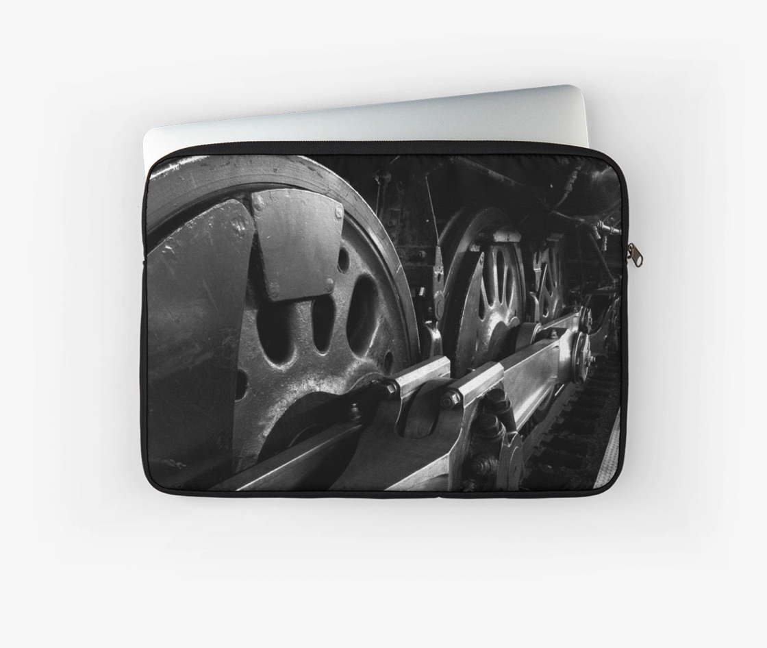 Steam Train Wheels Laptop Sleeve and Much More!