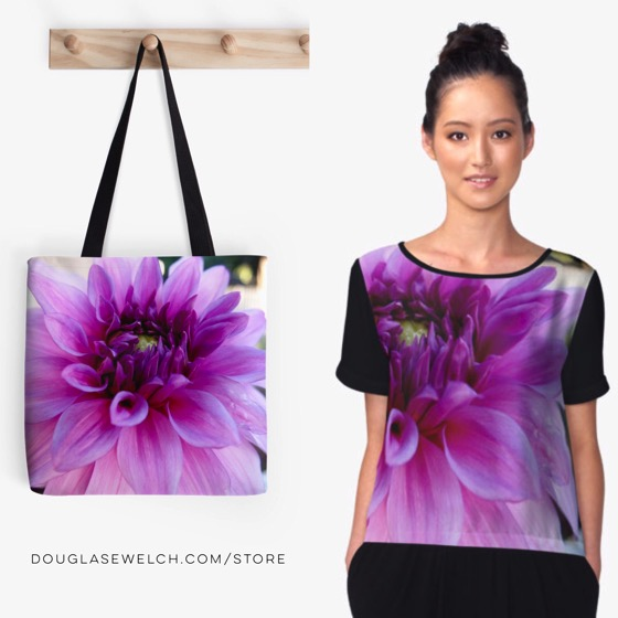 Dazzling Dahlia Totes, Tops and Much More!