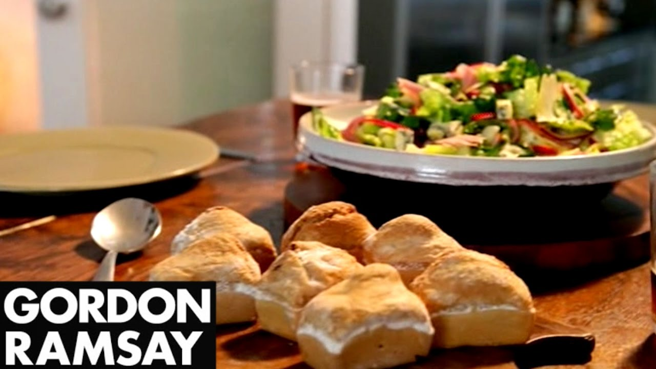 On YouTube: Ploughman's Lunch with Beer Soaked Bread   Gordon Ramsay
