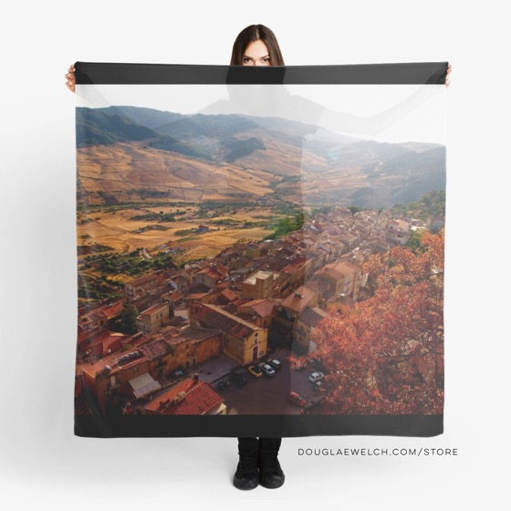View Over Sperlinga, Sicily Scarf