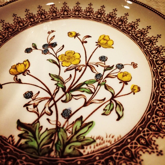 Spode Buttercup China from last night's get-together with friends