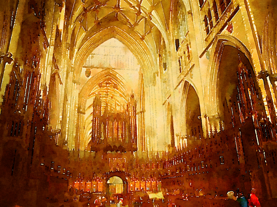 Choir, York Minster, York, UK