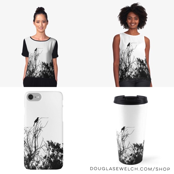 """Get these """"Bird Sentinel"""" Tops, iPhone Cases, Travel Mugs and Much More!"""