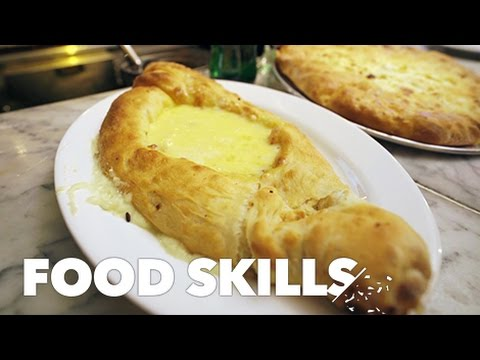On YouTube: Khachapuri Is the Georgian Cheese Boat of Your Dreams | Food Skills