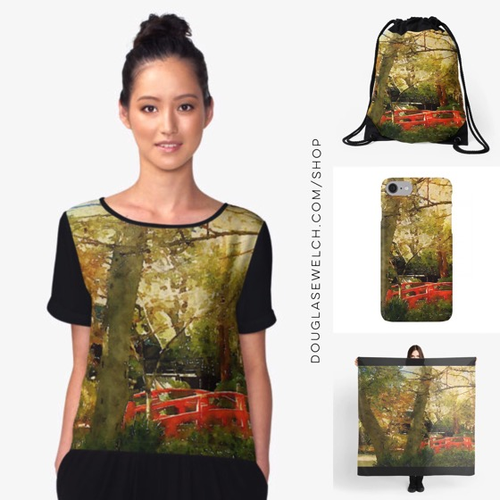 """""""In A Japanese Garden"""" Tops, Cases, Totes and Much More!"""