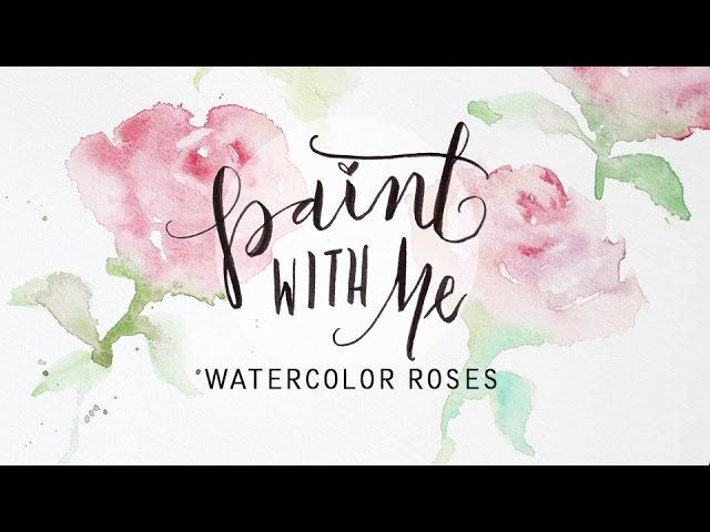 On YouTube: PAINT WITH ME: Watercolor Roses Tutorial (Easy, Beginner Painting)