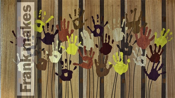 On YouTube: Wood Cut Handprint Art