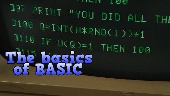 On YouTube: The basics of BASIC, the programming language of the 1980s.
