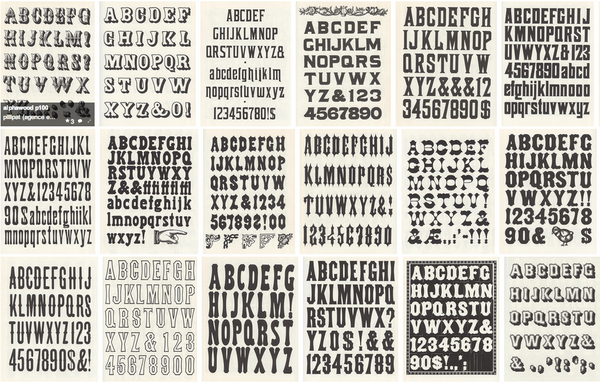 Noted: Free Download: Dozens of Old Wood Type Alphabets