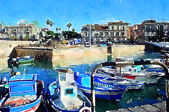 Ortygia, Siracusa, Sicily, Italy - Watercolor
