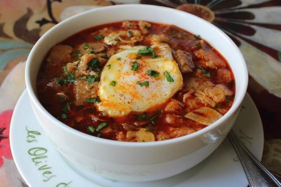 Spanish Garlic Soup - Sopa de Ajo Recipe - Bread and Garlic Soup