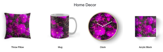 A Purple Explosion on Tops, Totes, Smartphone Cases and Much More!