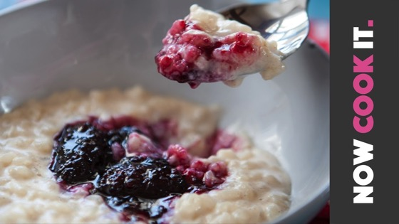 On YouTube: Jammy Rice Pudding Recipe | Now Cook It from SortedFood