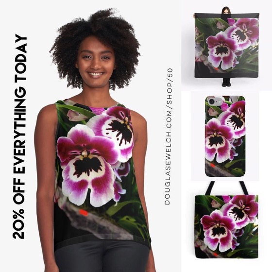 Opulent Orchid Tops, Smartphone Cases, Totes and Much More! - 20% OFF Everything Today!