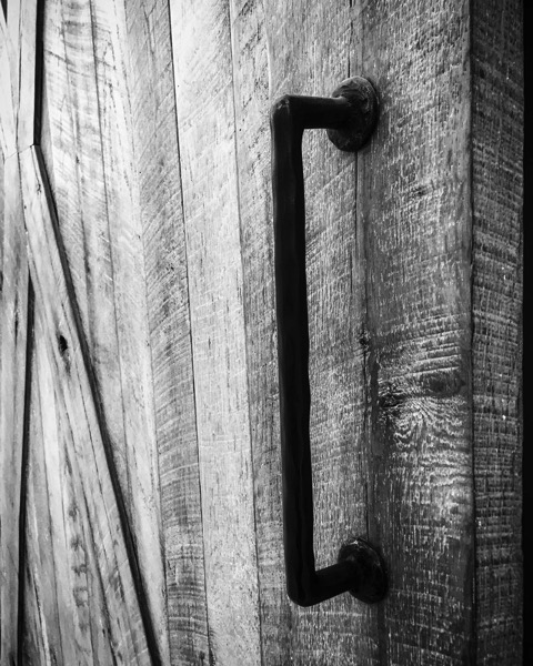 Barn Door in Black and White