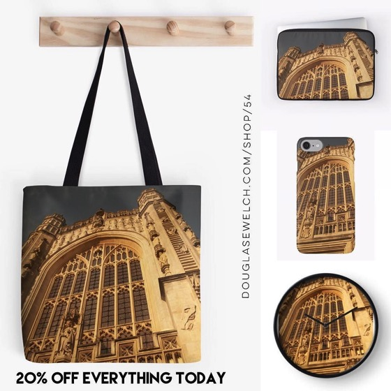 20% OFF EVERYTHING TODAY!</p></p>  <p><p>Bath Abbey Totes, Smartphone Cases, Clocks and Much More