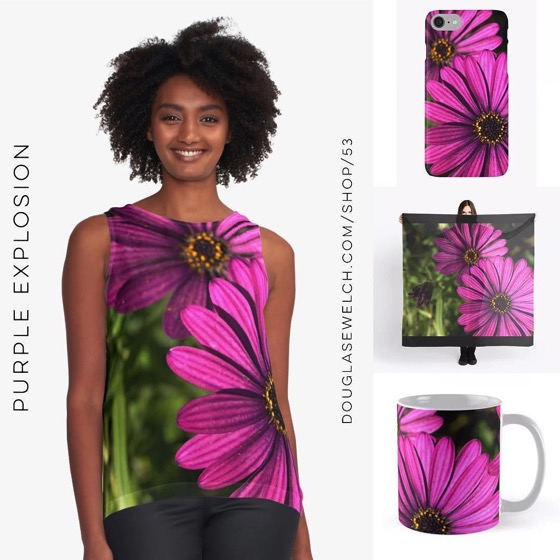 Purple Explosion Scarves, Smartphone Cases, Mugs and Much More!