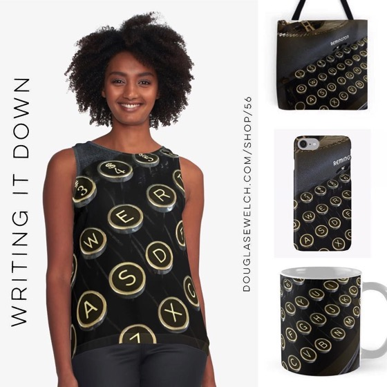 """NEW DESIGN – """"Writing it down…"""" Tops, Totes, Smartphone Cases, and Much More!"""