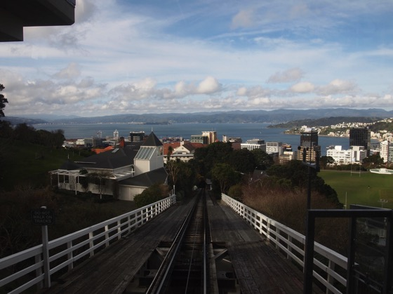 View of Wellington Harbor from top station of cable car