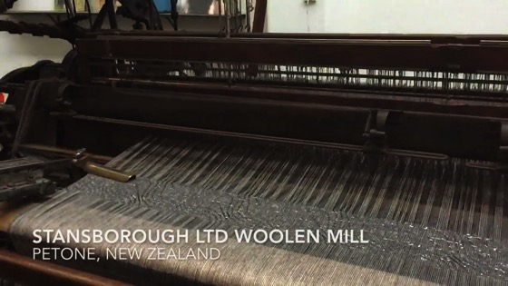 Stansborough LTD Woolen Mill - Loom Working in Slow Motion