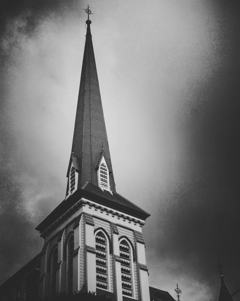 Church Steeple, Wellington, New Zealand in Black and White via Instagram